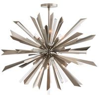 Arteriors 89030 Waldorf 8 Light 38 inch Vintage Silver Chandelier Ceiling Light LargeRound