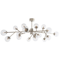 Dallas 18 Light 58 inch Polished Nickel Chandelier Ceiling Light