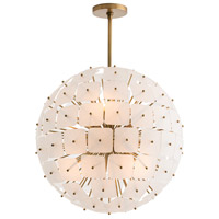 Enya 6 Light 26 inch Antique Brass Chandelier Ceiling Light, Round