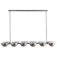Declan 12 Light 53 inch Vintage Silver/White Chandelier Ceiling Light, Rectangle