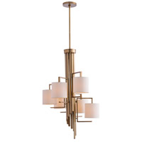 Elijah 6 Light 24 inch Antique Brass Chandelier Ceiling Light, Round