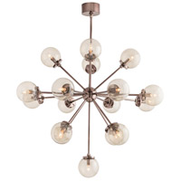 Henderson 17 Light 39 inch Brown Nickel Chandelier Ceiling Light