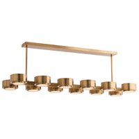 Hawkins 12 Light 51 inch Antique Brass Chandelier Ceiling Light