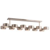 Hawkins 12 Light 51 inch Satin Nickel Chandelier Ceiling Light