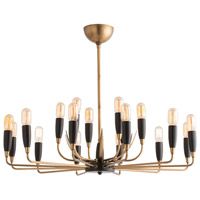Hardy 18 Light 37 inch Antique Brass Chandelier Ceiling Light