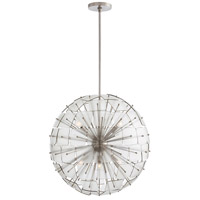 Enya 6 Light 26 inch Vintage Silver Chandelier Ceiling Light, Round