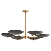 Arteriors 89047 Griffith 6 Light 40 inch Antique Brass Chandelier Ceiling Light