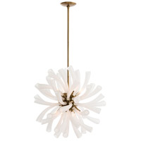 Arteriors 89049 Emmy 8 Light 24 inch Antique Brass Chandelier Ceiling Light Round