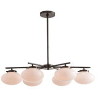 Houston 6 Light 35 inch Bronze Chandelier Ceiling Light