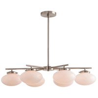 Houston 6 Light 35 inch Satin Nickel Chandelier Ceiling Light