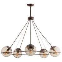 Hathoway 5 Light 39 inch Brown Nickel Chandelier Ceiling Light