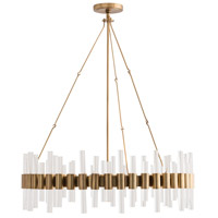 Haskell 8 Light 34 inch Antique Brass Chandelier Ceiling Light