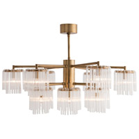 Arteriors 89058 Gretta 12 Light 39 inch Antique Brass Chandelier Ceiling Light