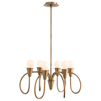Garfield 6 Light 27 inch Antique Brass Chandelier Ceiling Light