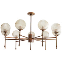 Arteriors 89096 Osborne 9 Light 38 inch Heritage Brass Chandelier Ceiling Light