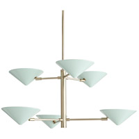 Mcvey 6 Light 36 inch Pale Brass Chandelier Ceiling Light