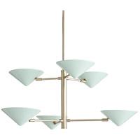 Arteriors 89099 Mcvey 6 Light 36 inch Pale Brass Chandelier Ceiling Light