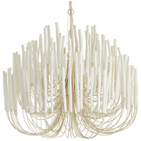 Arteriors 89100 Tilda 6 Light 36 inch White Chandelier Ceiling Light, Large