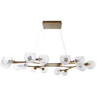 Arteriors 89103 Mahowald 16 Light 70 inch Antique Brass Chandelier Ceiling Light