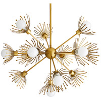 Murphy 13 Light 36 inch Antique Brass Chandelier Ceiling Light