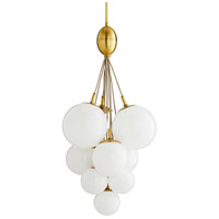 Arteriors 89106 Orchard 10 Light 24 inch Antique Brass Chandelier Ceiling Light