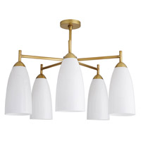 Arteriors 89109 Shiloh 5 Light 27 inch Antique Brass Chandelier Ceiling Light