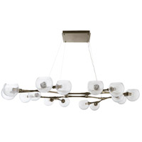 Mahowald 16 Light 70 inch Brushed Nickel Chandelier Ceiling Light