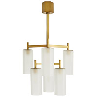 Arteriors 89124 Soloman 6 Light 23 inch Antique Brass Chandelier Ceiling Light