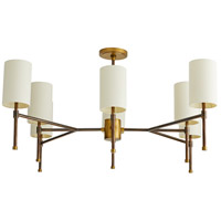 Arteriors 89125 Remington 8 Light 40 inch Heritage Brass with Antique Brass Accents Chandelier Ceiling Light