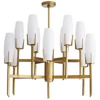Arteriors 89126 Keifer 12 Light 36 inch Antique Brass Chandelier Ceiling Light Large