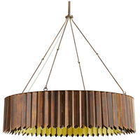 Arteriors 89129 Waldorf 8 Light 36 inch Heritage Brass and Polished Brass Chandelier Ceiling Light Large Round