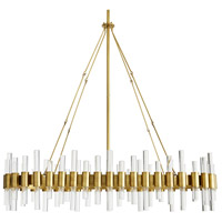 Arteriors 89130 Haskell 10 Light 43 inch Antique Brass Chandelier Ceiling Light Oval