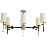 Arteriors 89131 Remington 8 Light 40 inch Dark Vintage Silver with Light Vintage Silver Chandelier Ceiling Light