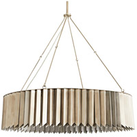 Arteriors 89133 Waldorf 8 Light 36 inch Vintage Silver and Satin Nickel Chandelier Ceiling Light Large Round