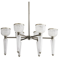 Arteriors 89307 Richardson 6 Light 30 inch Dark Vintage Silver Chandelier Ceiling Light