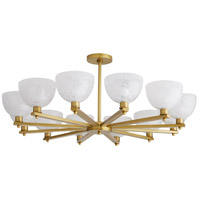 Arteriors 89310 Silas 12 Light 36 inch Antique Brass Chandelier Ceiling Light