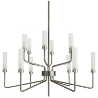 Arteriors 89311 Salone 12 Light 36 inch Dark Vintage Silver Chandelier Ceiling Light