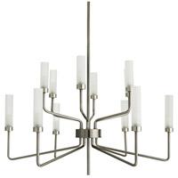 Arteriors 89311 Salone 12 Light 36 inch Dark Vintage Silver Chandelier Ceiling Light