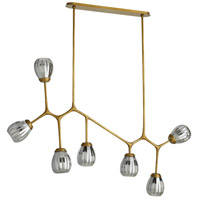 Smyth 7 Light 66 inch Antique Brass Linear Chandelier Ceiling Light