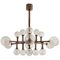 Arteriors 89332 Tricia LED 47 inch Heritage Brass Chandelier Ceiling Light