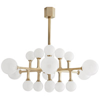 Arteriors 89333 Tricia LED 47 inch Pale Brass Chandelier Ceiling Light