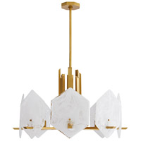 Arteriors 89336 Utopia 8 Light 30 inch Antique Brass Chandelier Ceiling Light