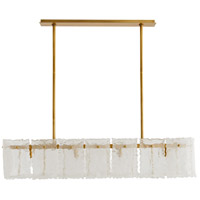 Arteriors 89338 Tripp 8 Light 48 inch Antique Brass Linear Chandelier Ceiling Light