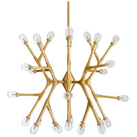 Arteriors 89339 Vandike 32 Light 34 inch Antique Brass Chandelier Ceiling Light