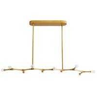 Arteriors 89340 Vanderpool 10 Light 60 inch Antique Brass Linear Chandelier Ceiling Light