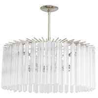 Nessa 8 Light 27 inch Polished Nickel Chandelier Ceiling Light, Round