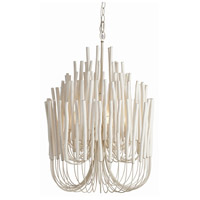 Tilda 5 Light 21 inch Whitewashed Wood and White Chandelier Ceiling Light