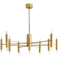Arteriors 89633 Bozeman 20 Light 46 inch Antique Brass Chandelier Ceiling Light, Essential Lighting