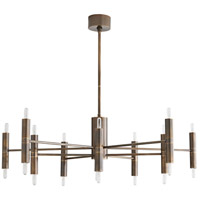 Arteriors 89634 Bozeman 20 Light 46 inch Heritage Brass Chandelier Ceiling Light, Essential Lighting