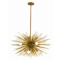 Arteriors 89669 Zanadoo 12 Light 29 inch Antique Brass Chandelier Ceiling Light Small